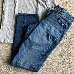 JCrew broken in distressed boyfriend jeans